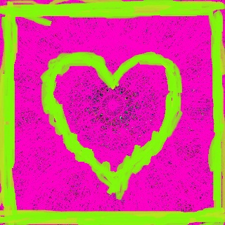 pink heart mandala