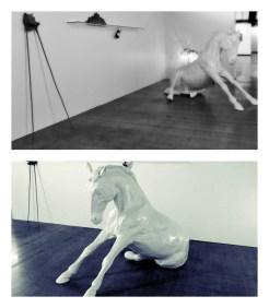 """Vytautas Virbickas, """"Sėdinčio arklio skulptūra šalia kitų mažų dalykų"""""""