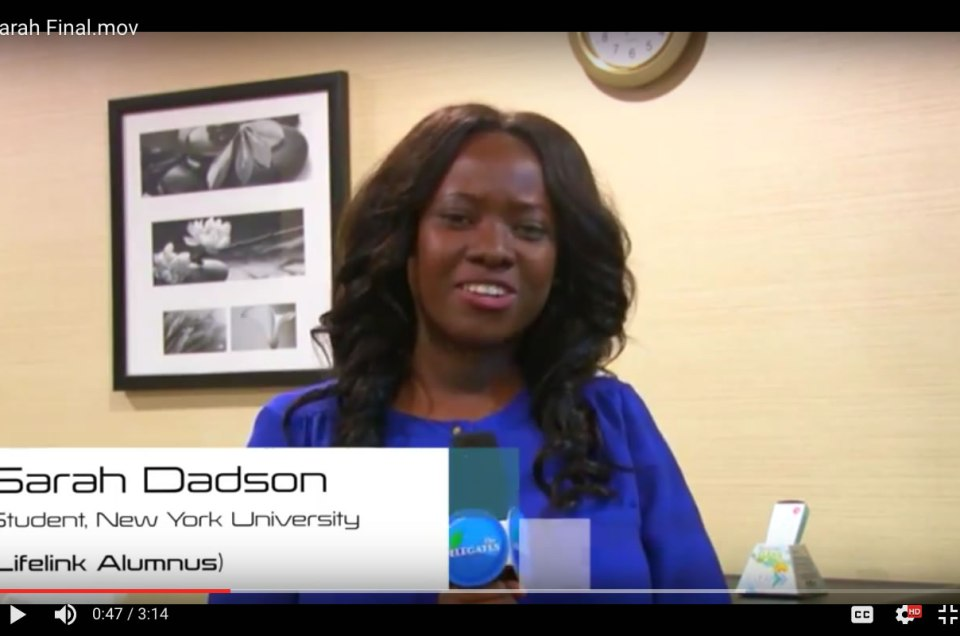 Take a look at Sarah Dadson, journey through LifeLink Model United Nations