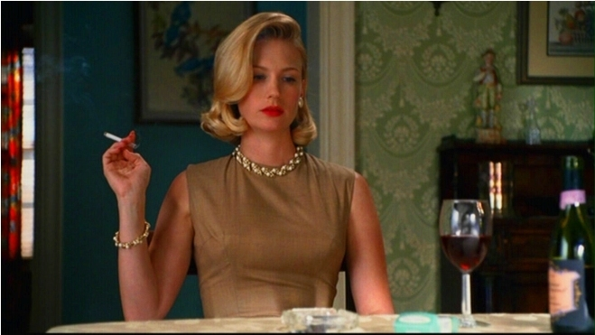 Image result for betty draper smoking
