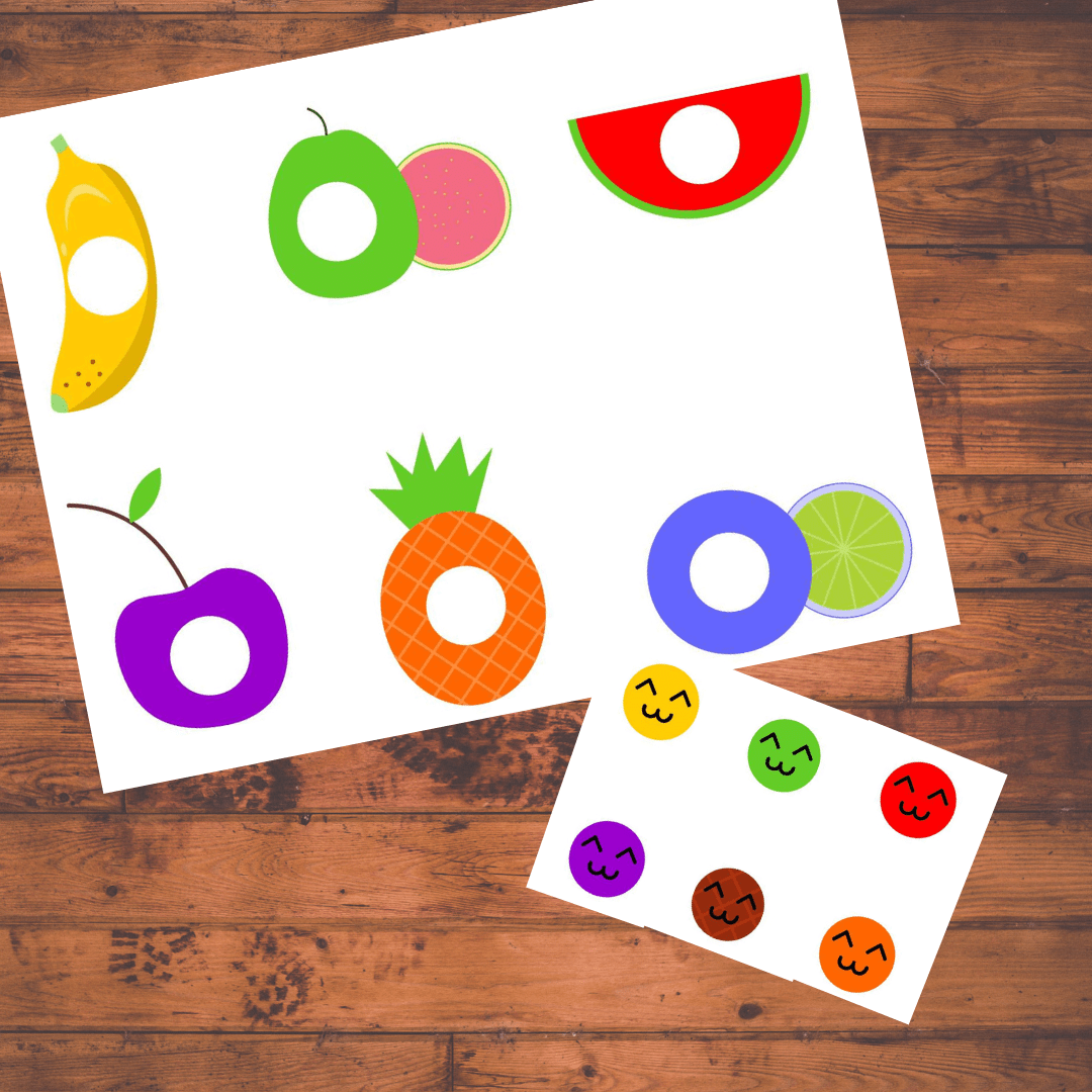 Fruits Color Matching Activity Teach Colors