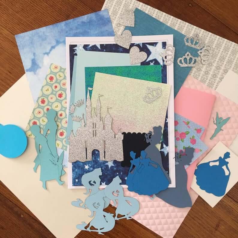 Unique Kids Craft Sets etsy magical princess scrapbooking kit