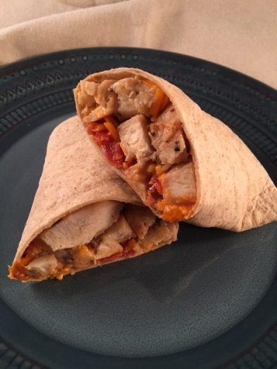 buffalo chicken, bacon, and cheese wrap