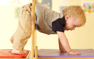 Navigating through a tight space is a great way to develop and stimulate your vestibular sense