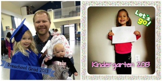 Preschool Graduation and First Day of Kindergarten 2013