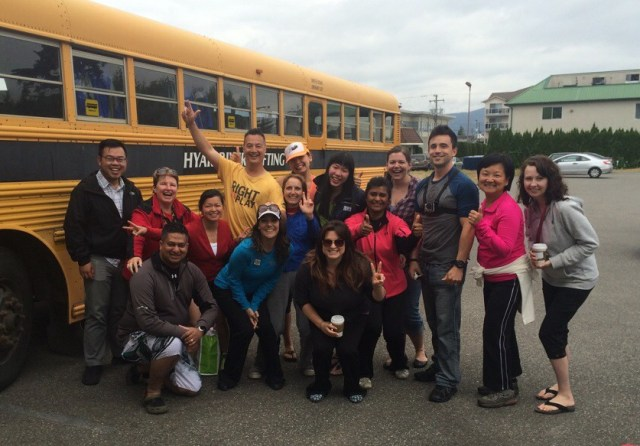 YVR Bloggers Hyak Rafting Group Photo (bus) on Life Love and the Pursuit of Play