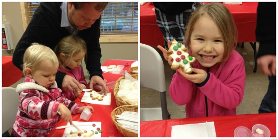 Cookie decorating at Timberline Country Christmas
