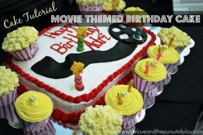 Cake Tutorial Movie Themed Birthday Cake