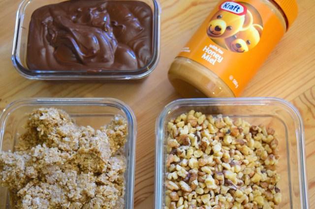 no-bake kraft peanut butter oat bars - ingredients