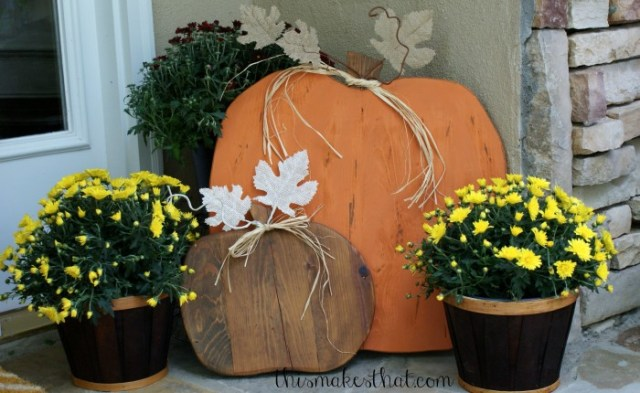 Wooden Rustic Pumpkin DIY featured on Life, Love and the Pursuit of Play's #GoodFriendsFriday Linky Party