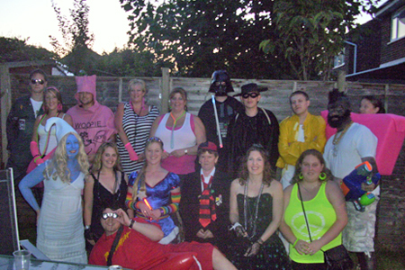 The 80s themed fancy dress
