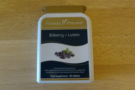 Bilberry and Lutein supplement