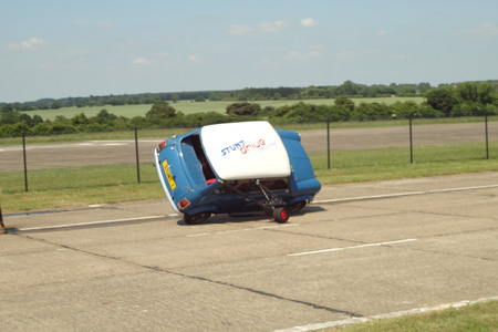 Two wheeled driving - stunt driving