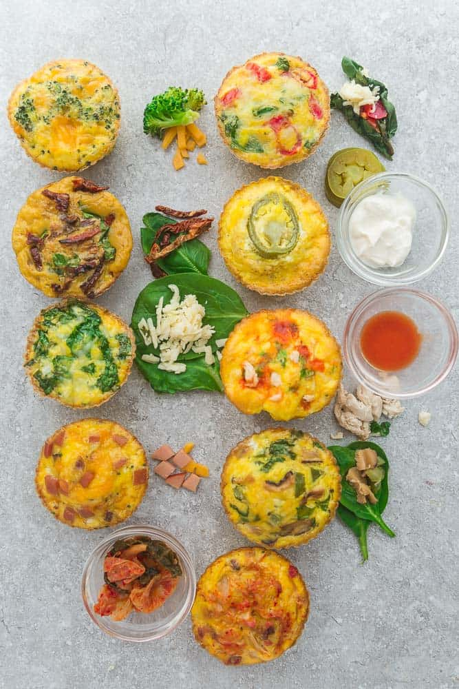 9 Low Carb Breakfast Egg Muffin Cups are packed with protein and perfect for busy mornings, weekend or holiday brunch. Best of all, so easy make-ahead breakfast for on the go.