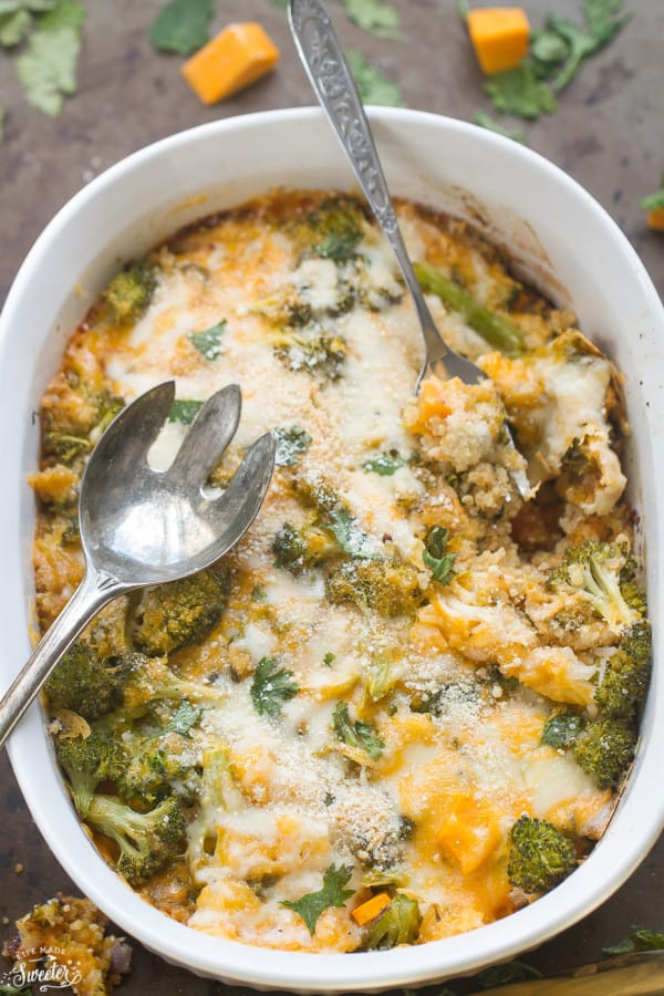 Low Carb Broccoli Cheese Casserole - the perfect easy comforting dish for busy weeknights. Best of all, low carb, keto friendly and comes together with simple pantry ingredients.