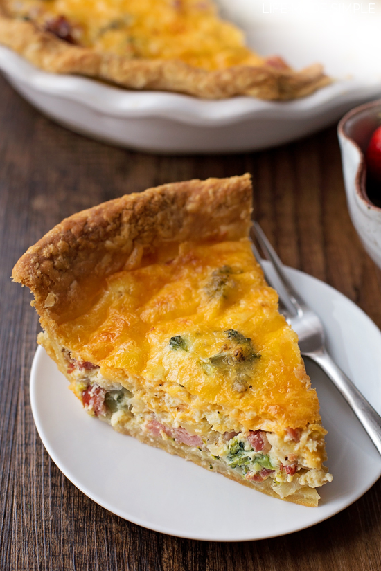 Ham Bacon and Broccoli Quiche Life Made Simple