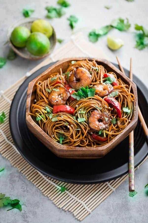 Easy Shrimp Lo Mein Noodles
