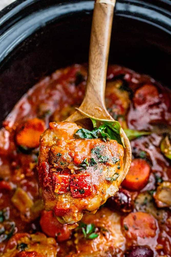 Slow Cooker Chicken Cacciatore  Life Made Sweeter