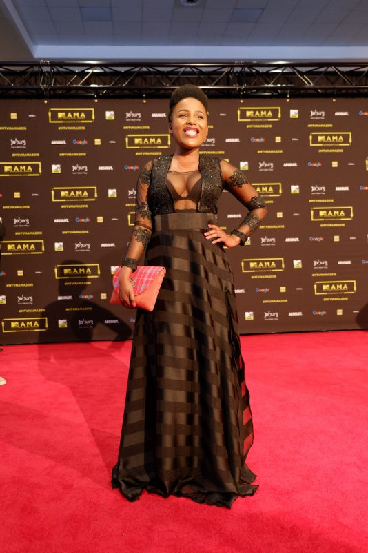 L'actrice sud africaine Pretty Ncayiyana