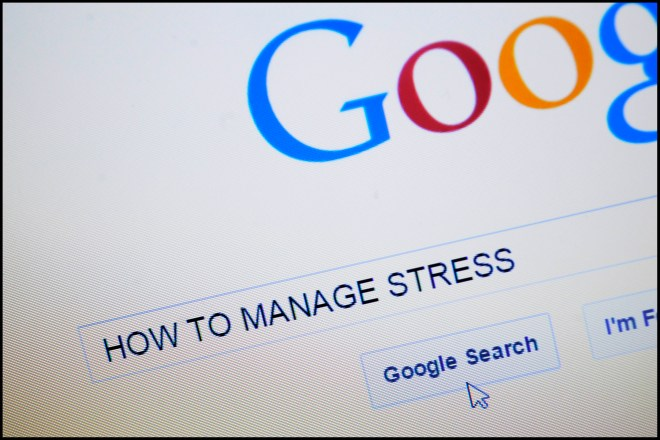 How to manage Stress typed into search bar on Google homepage