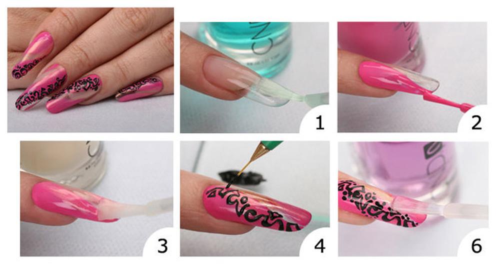 Как делать рисунок на ногтях