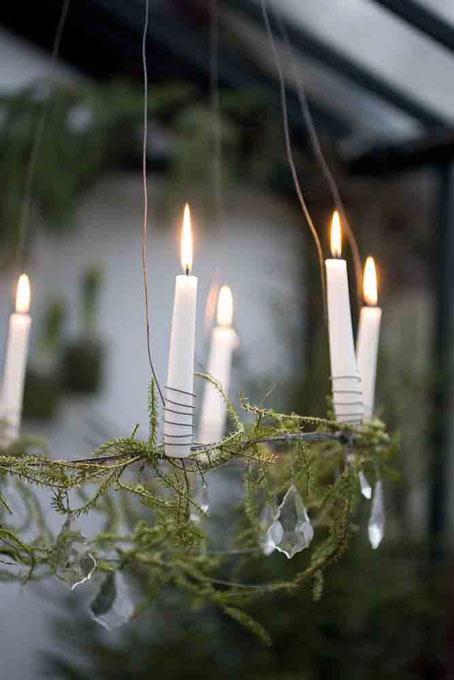 дачный декор своими руками люстра со свечами
