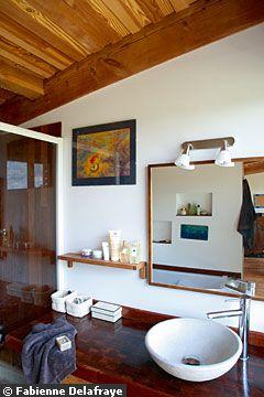 экодом во франции ванная интерьеры дерево мербау