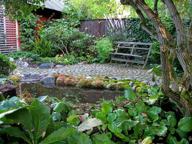 пруд в саду своими руками