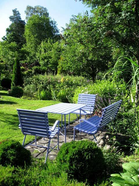 патио в саду ландшафтный дизайн