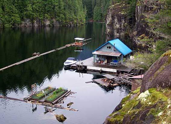 плавучий огород на воде плавучий дом идеи для огорода канада
