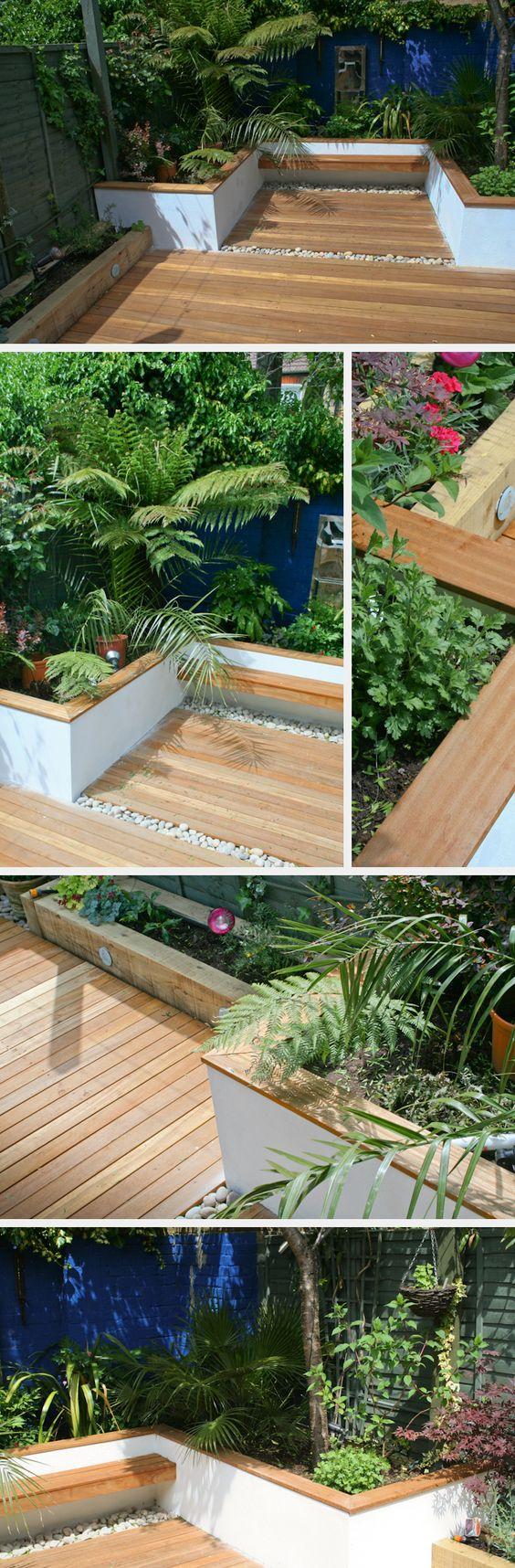 Идеи для сада - организация площадки из дерева