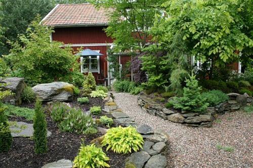 Красивый дизайн в саду