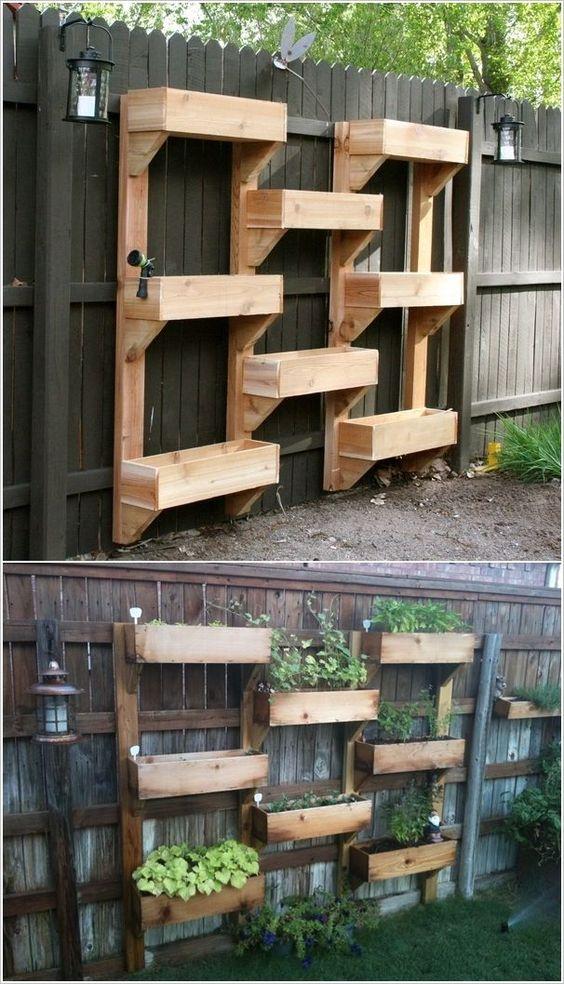 Система вертикального озеленения из ящиков