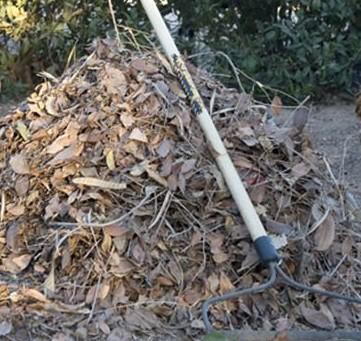 Подготовка листьев для компостирования