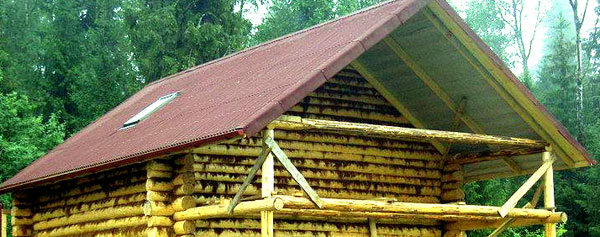 Крыша бани 1