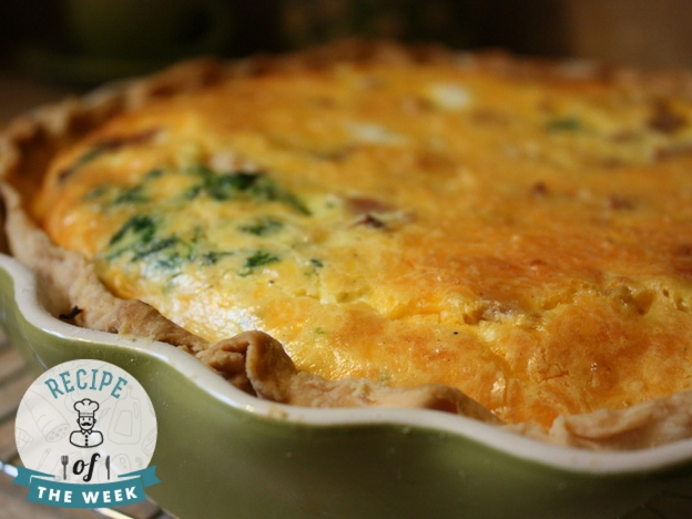 Golden Onion Quiche Recipe