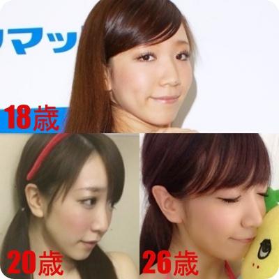 清水あいり 昔と今 顔 変わった 顔 変化 画像 比較