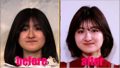 小林星蘭の顔の変化