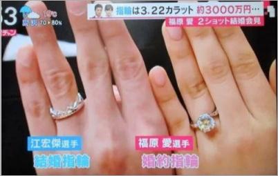 福原愛の婚約指輪について