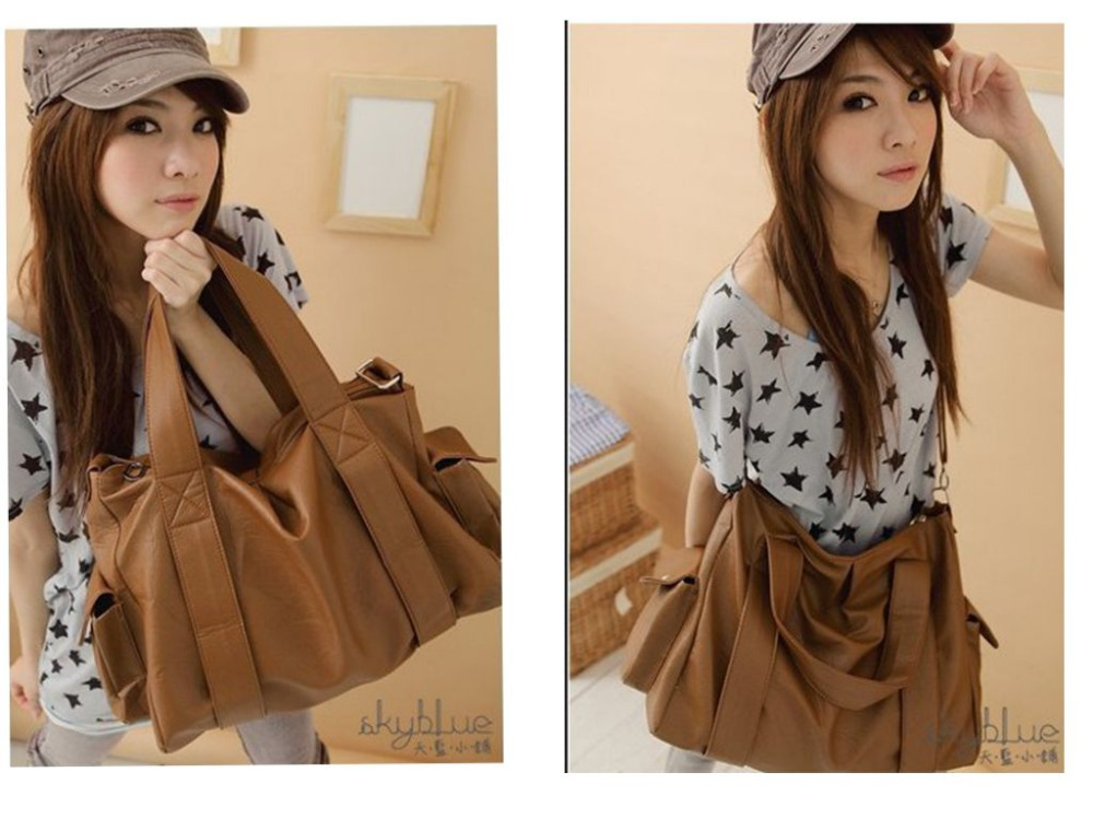 Free-Shipping-Travel-Fashion-Girls-Big-PU-Vintage-Casual-Leather-bags-Shoulder-Women-s-Big-Capacity