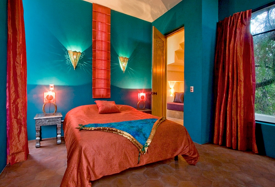 Mediterranean-style-bedroom-with-rich-Spanish-and-moroccan-influence