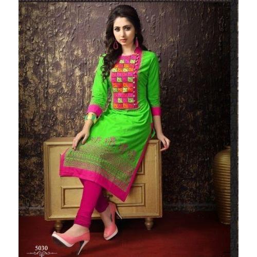 1pr2-elegant-green-cotton-straight-kurti-kurta_500x500_1