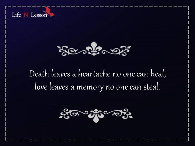 Lost Your Loved Ones