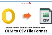 convert olm to csv
