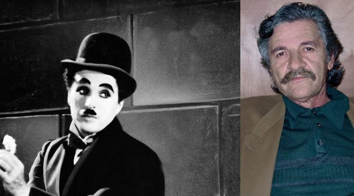 , The words that associate Charlie Chaplin with a Cretan poet