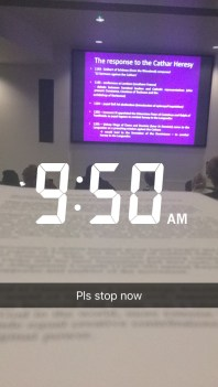 lecture snapchat
