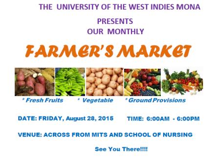 UWI Farmers Market August 2015 www.lifeofajamaican.wordpress.com