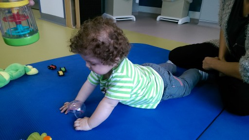 At his physio session