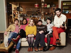 Fresh Meat Series 4: (Zawe Ashton as Vod, Greg McHugh as Howard, Kimberley Nixon as Josie, Charlotte Ritchie as Oregon, Joe Thomas as Kingsley, Jack Whitehall as J.P.)