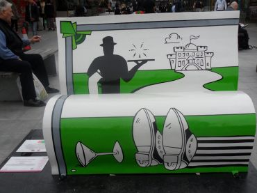 Jeeves and Wooster stories bench